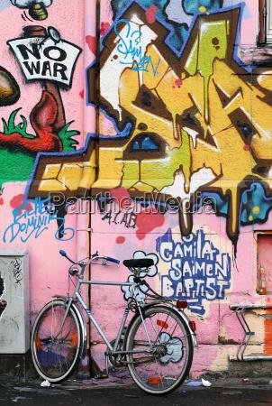 graffiti und fahrrad
