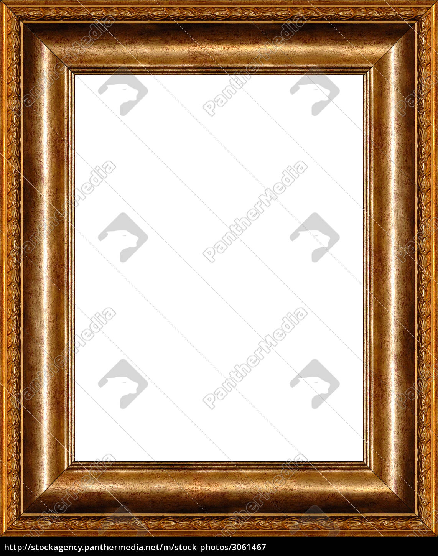 antike bilderrahmen isoliert - Stockfoto - #3061467 - Bildagentur ...