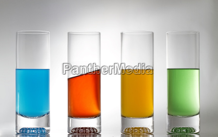 four glasses one diagonally