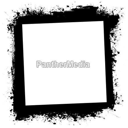 grunge splat ink frame