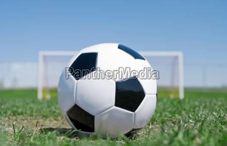 football close up with goal