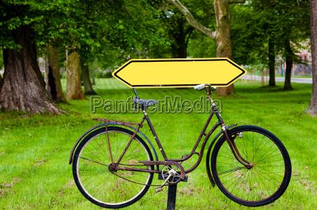 signpost bike path
