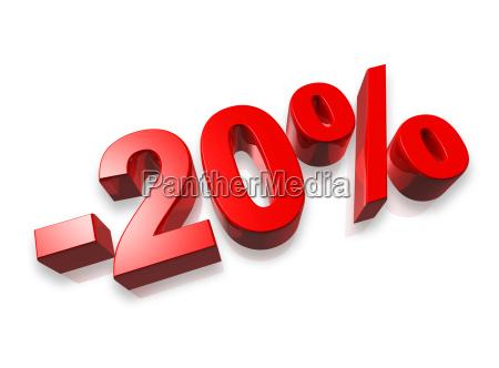 20 zwanzig prozentzahl