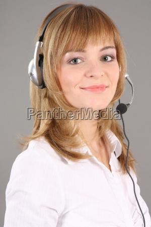 portrait call centre agent