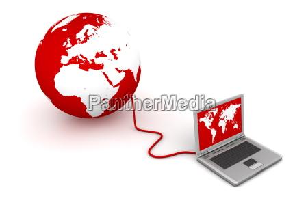 conectado con el mundo de red