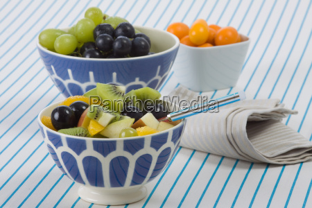 three fruit bowls
