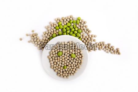 fresh and dried peas