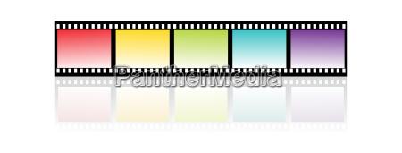 colorful filmstripe