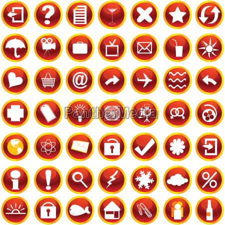 orange symbole fuer web