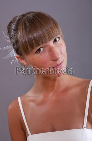 portrait of bride in studio
