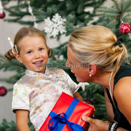 christmas child is gifted