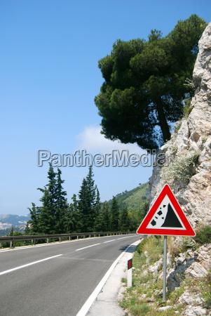 risk of rockfall