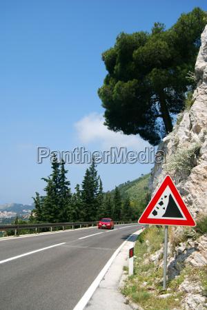 danger from rockfall