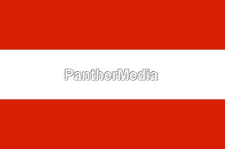 die nationalflagge von oesterreich