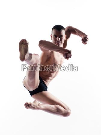 man portrait gymnastic karate
