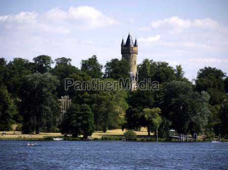 park babelsberg flatowturm und havel
