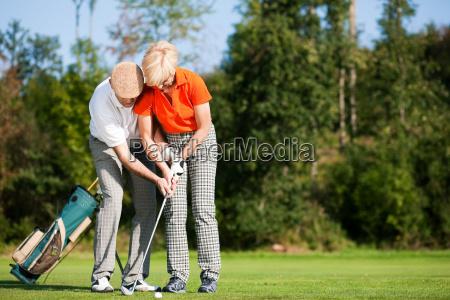 golf training on the court