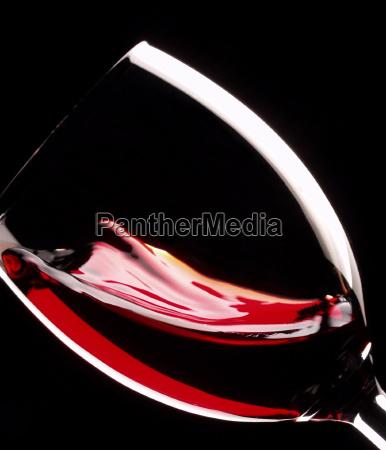 glass of red vine degustation