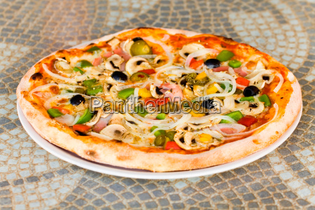 pizza, champignon, schwarze, olive, schinken - 3309729