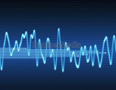 elektronischen sinus schallwelle