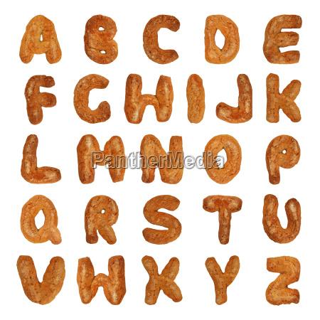 britische buchstaben des alphabets
