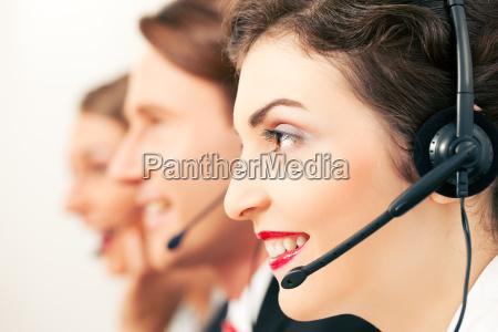 callcenter, team, beim, telefonieren - 3329269