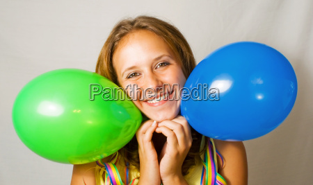 woman party celebration balloon silvester enthusiasm
