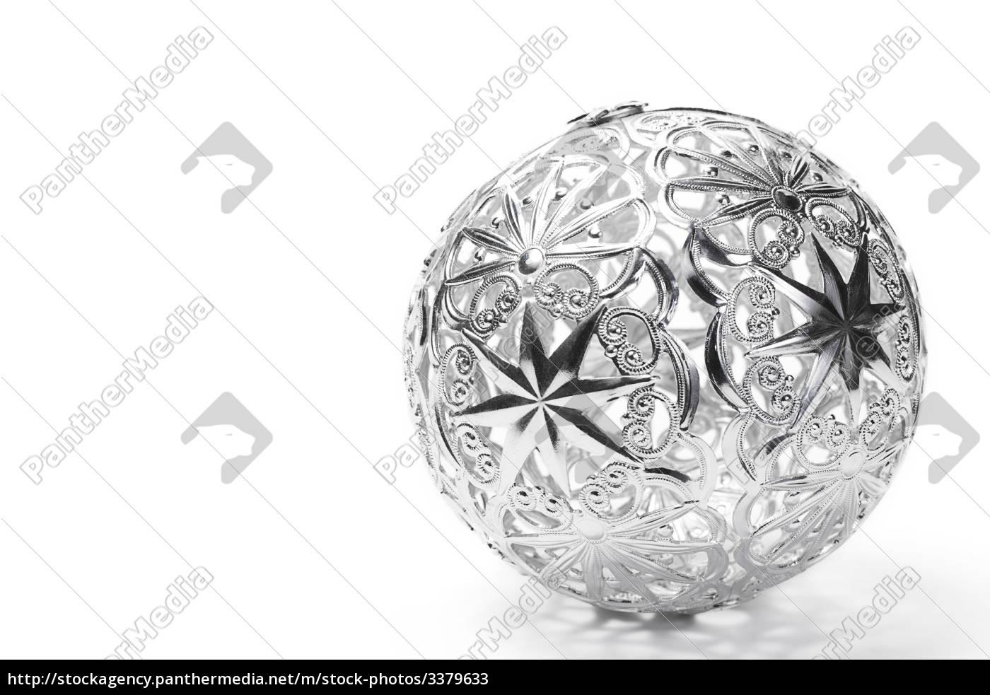 Christbaumkugeln Metall.Lizenzfreies Bild 3379633 Christbaumkugel Aus Metall