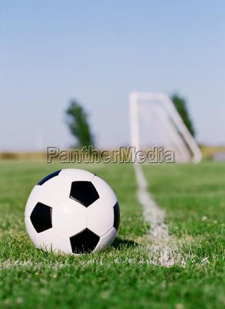 football in the corner area