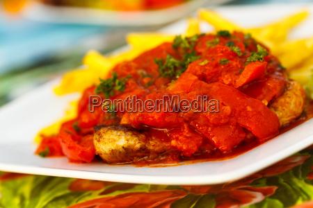 schnitzel mit grill paprika ungarisch