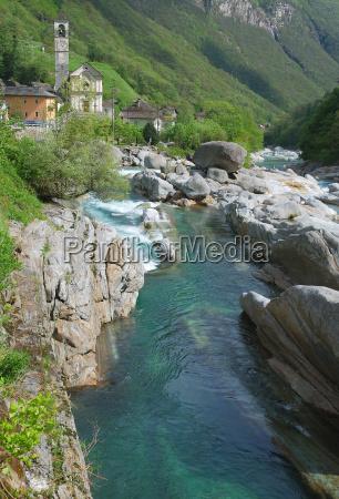 lavertezzo in the verzasca valley near