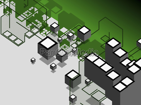 high angle view of cubes on