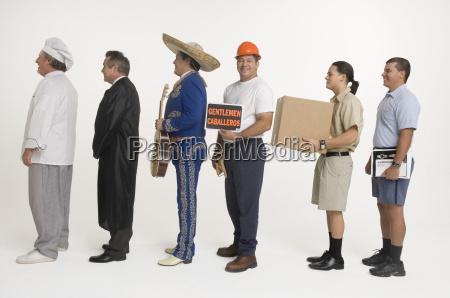 postmitarbeiter koch lieferant mariachi richter und