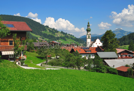 oberau in the wildschoenau in tirol