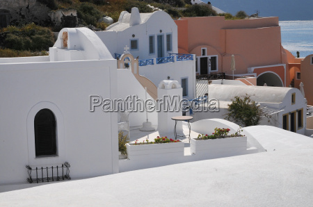 view from oia santorini