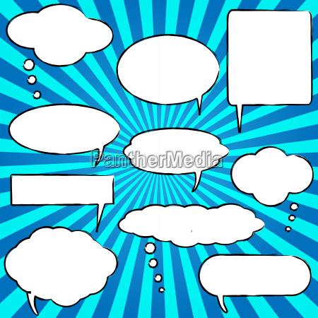 comic sprache chat bubbles