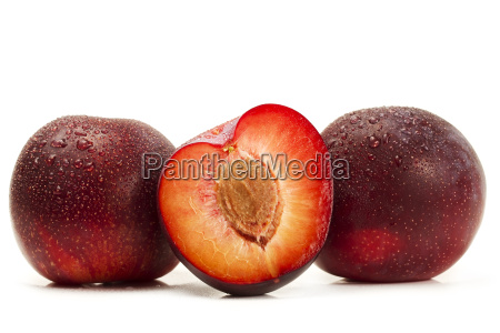 two wet plums and a half