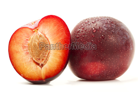 wet plum and half