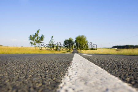 road passing through a field loire
