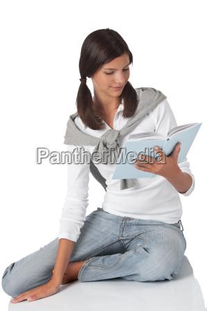 frau geniessen student studentin erleichtern entspannen
