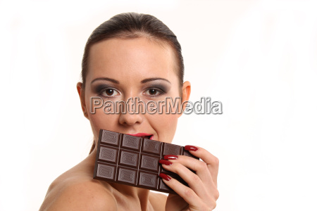 portrait with chocolate