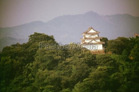 farbe baum berge asien horizontal fotografie