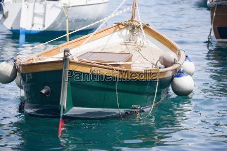 boat moored at a harbor italian
