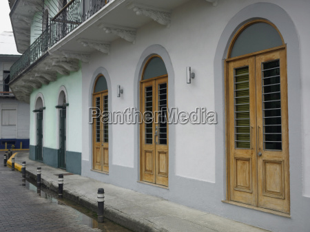 buildings along a street old panama