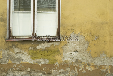 close up of an old window