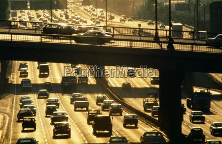 auto traffic on la harbor freeway