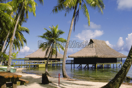 stilt house in the sea bali