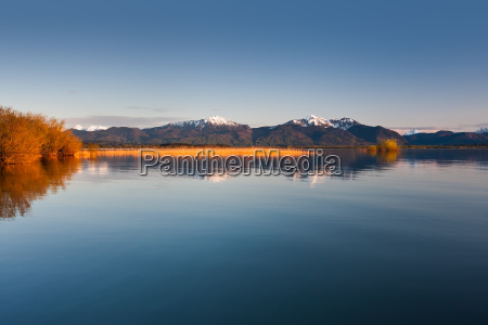 lake chiemsee in evening light