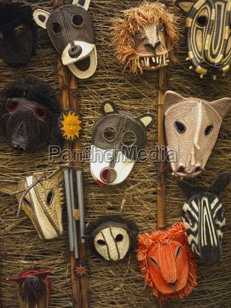 close up of masks old panama