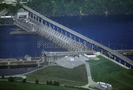 watts bar hydroelectric dam tennessee usa